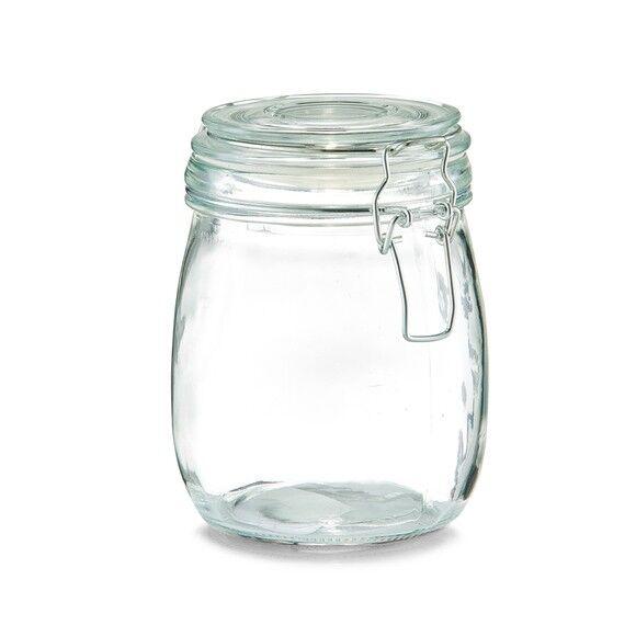 ZELLER Pot de conservation en verre avec couvercle à clip 750ML