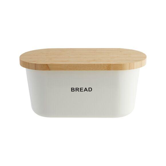 ZELLER Boîte à pain blanche avec planche à pain