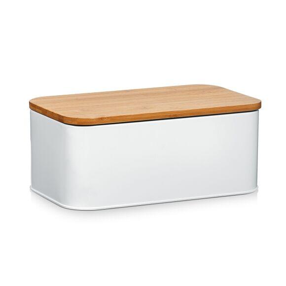 ZELLER Petite boîte à pain blanche