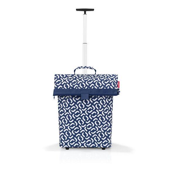 REISENTHEL Cabas à roulettes en toile bleu 40L