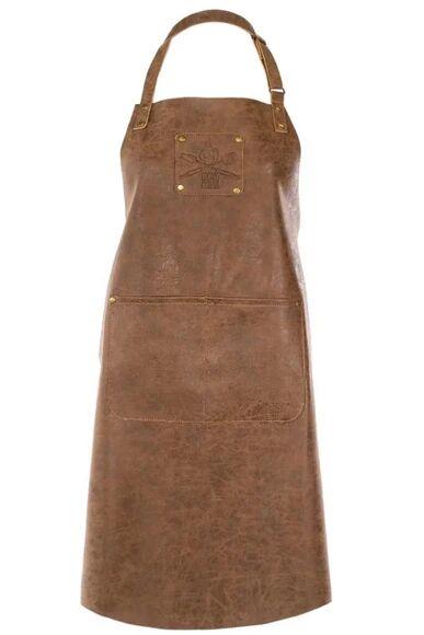 . Tablier 64x85cm en simili cuir marron Truman