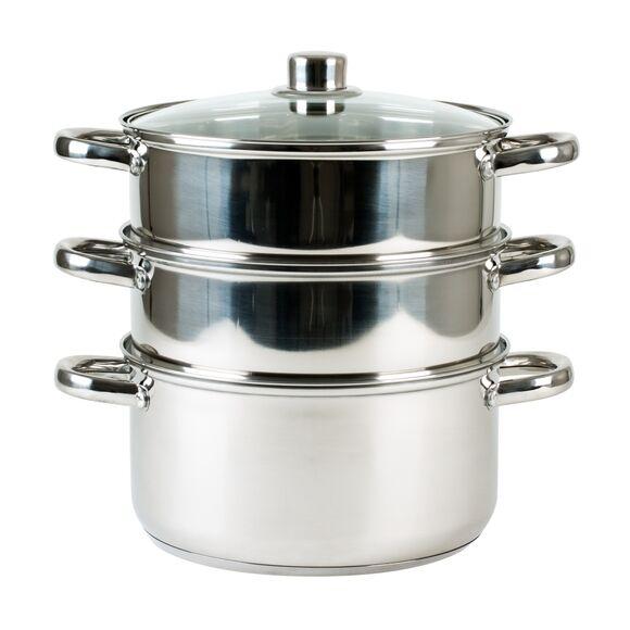 . Cuit vapeur à 3 compartiments en inox 20cm