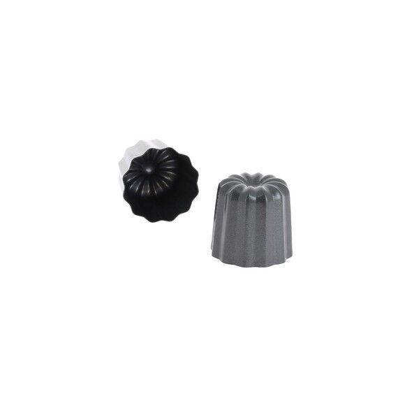 DE BUYER Lot de 4 moules à cannelés en métal antiadhésif 5,5cm