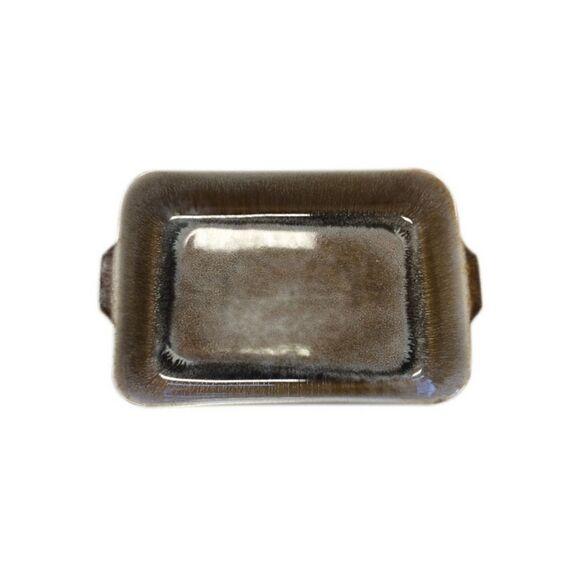 . Plat à four grès réactif caramel 33x21xh6,5cm