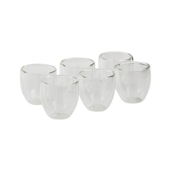 BODUM Set de 6 tasses à café double parois Pavina 8cl