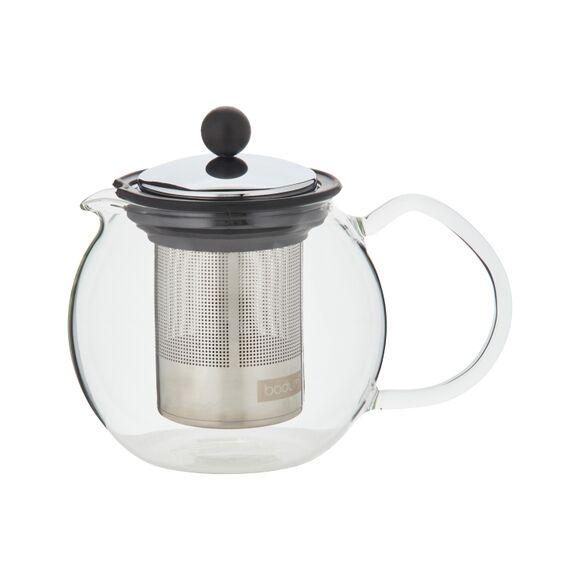 BODUM Théière à piston en verre, filtre inox, 0.5 L
