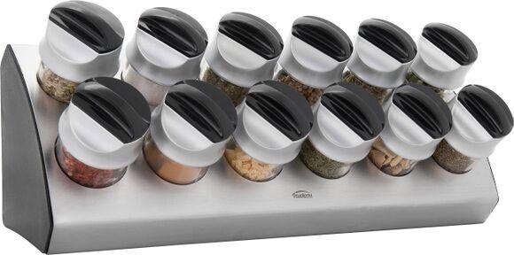 TRUDEAU Support 12 pots à épices en inox