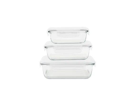 Pebbly Set 3 boîtes rectangulaires verre