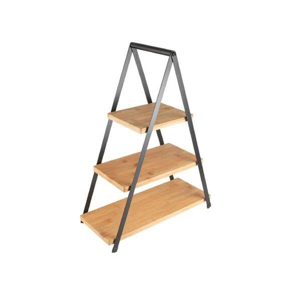 GUSTA Présentoir 3 étages en bambou et metal