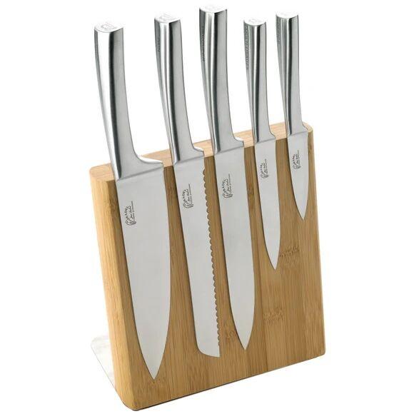 JEAN DUBOST Bloc aimanté bambou avec 5 couteaux inox Meteor