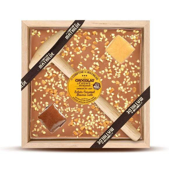 LE COMPTOIR DE MATHILDE Chocolat au lait à casser caramel 400g