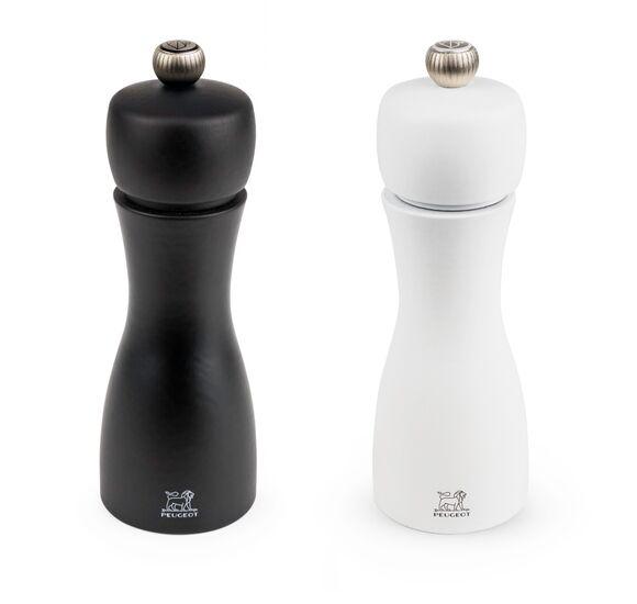 PEUGEOT Duo de moulins à poivre et sel noir et blanc Tahiti 15cm