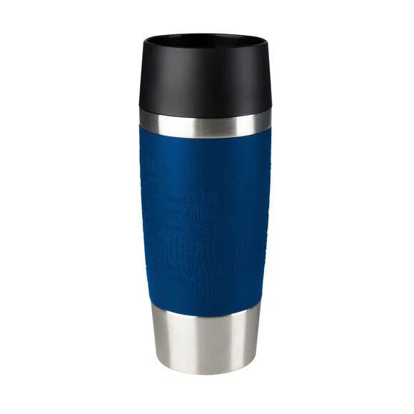 . Soldes - Mug de voyage isotherme en silicone bleu 0,36L