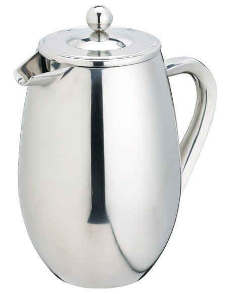 . Cafetière piston double parroi inox 1Litre