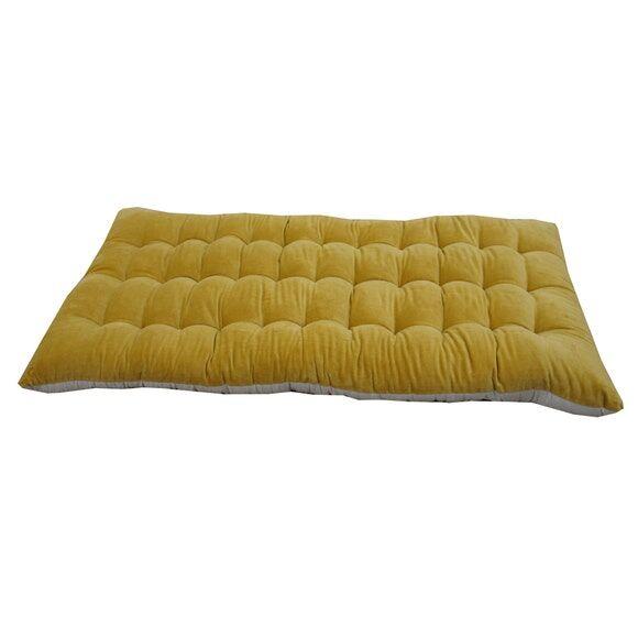 . Futon 60x120cm en velours et coton recyclé camel Gabriel