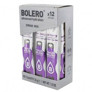 Bolero Pack 12 Sachets Bolero Drink goût Baies d'Açai 36 g