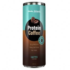 Body Attack Sports Nutrition Boisson Protéinée au Café Protein Coffee goût Latte Body Attack 250 ml