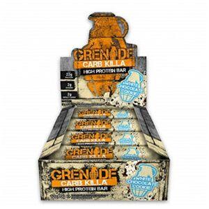 Grenade Barre Protéinée Carb Killa goût Biscuit au Chocolat Blanc Grenade 60 g - Publicité