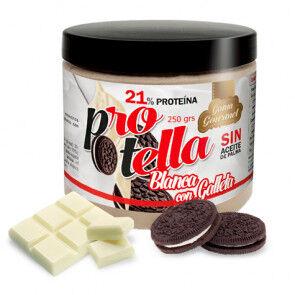 Protella Pâte à tartiner au Chocolat Blanc avec Biscuits Protella 250 g