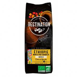 Destination Bio Café Moulu Éthiopien Moka 100% Arabica Bio Destination 250g