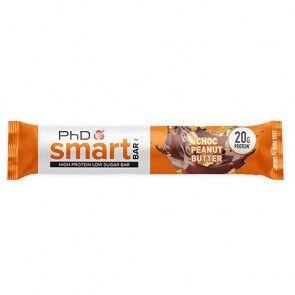 PhD Nutrition Ltd. Smart Bar Chocolate con Mantequilla de Cacahuete PhD 64g