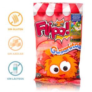 Flipa Bonbons sans Sucre Vers de Terre Flipa 80 g