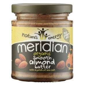 Meridian Foods Beurre d'amande douce bio au sel de mer méridien 170g