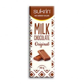 Sukrin Chocolat au Lait Sans Sucre Sukrin 40g