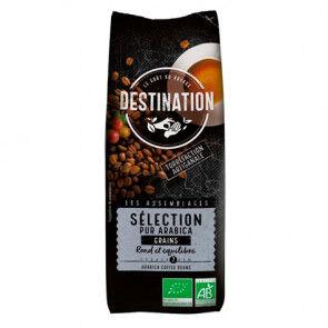 Destination Bio 100% Arabica Sélection de Grains de Café Bio Destination 250g