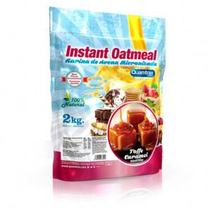 Quamtrax Nutrition Flocons d'avoine aromatisés Toffee Quamtrax 2 kg
