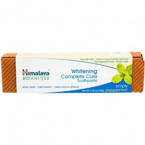 Himalaya Herbals Botanique Dentifrice Blanchissant Soin Blanchissant Complet Menthe Poivrée Himalaya Herbals 150g