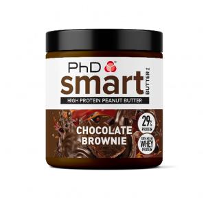 PhD Nutrition Ltd. PhD Smart Butter Protein Beurre d'arachide Brownie au chocolat 250g - Publicité