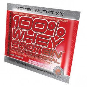 Scitec Nutrition 100% Whey Professional Scitec Nutrition Chocolat blanc fraise unidoses 30 g