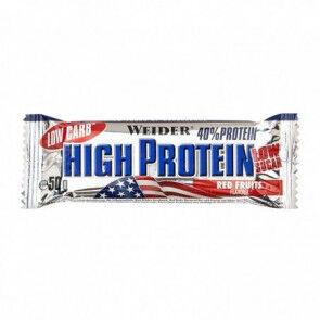 Weider 40% Low Carb High Protein Bar Weider Frutos Rojos 50 g