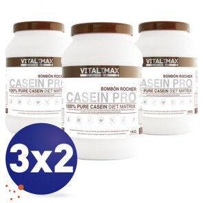 Vitalimax Nutrition Pack 3x2 Casein Pro 100% Protéine de Caséinate de Calcium Chocolat Rocher 1 kg Vitalimax Nutrition
