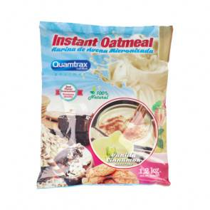 Quamtrax Nutrition Flocons d'avoine aromatisés au vanille-cannelle Quamtrax 1,2 kg