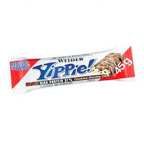 Weider Low Carb Yippie! Tablette de Chocolat avec Biscuits Weider 45 g