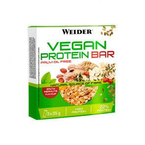 Weider Barre Protéinée Végétalienne Saveur D'arachide Salée Weider 3x35g