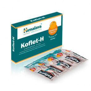 Himalaya Herbals Koflet-H Himalaya orange pastilles pour le mal de gorge 12(2x6)