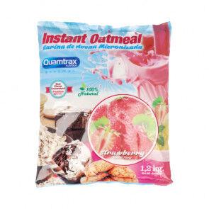 Quamtrax Nutrition Flocons d'avoine aromatisés au fraise Quamtrax 1,2 kg