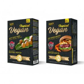 Natural Zero Burger Vegan Tropical Protein  Natural Zero 195g