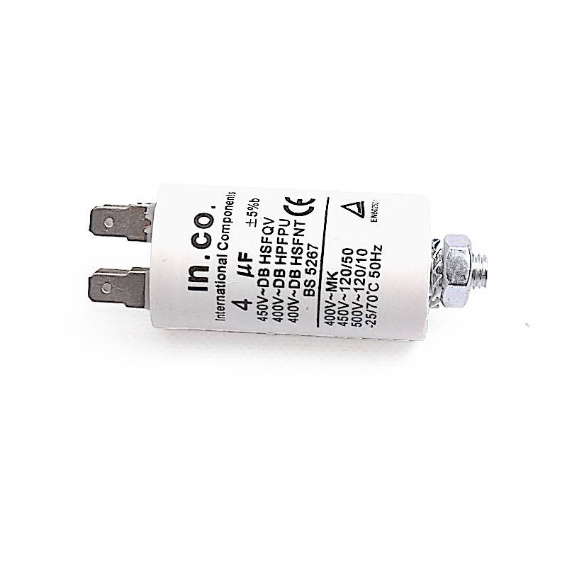 Candy Condensateur 4 mF 400-500V - 49011940 481212118277 31X6521 SO24503 196899 126361 57X0283 92219435