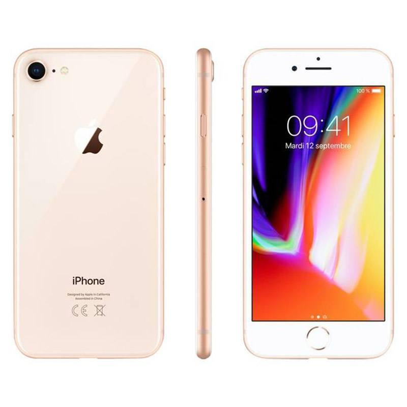 APPLE IPHONE 8 64 Go GOLD RECONDITIONNÉ GRADE ECO + COQUE & VERRE TREMPE
