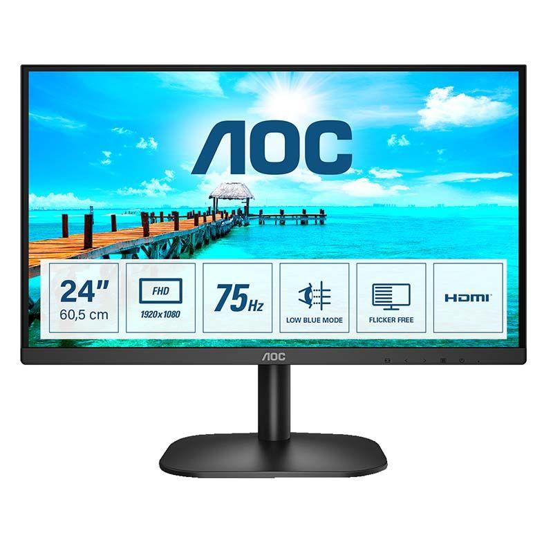 """AOC Moniteur PC AOC 24"""" 24B2XHM2 75HZ 4ms HDMI"""