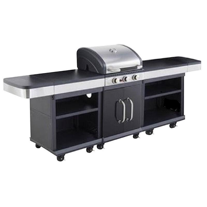 . Barbecue gaz CUISINE EXTERIEURE 3 BRULEURS + 2 DESSERTES
