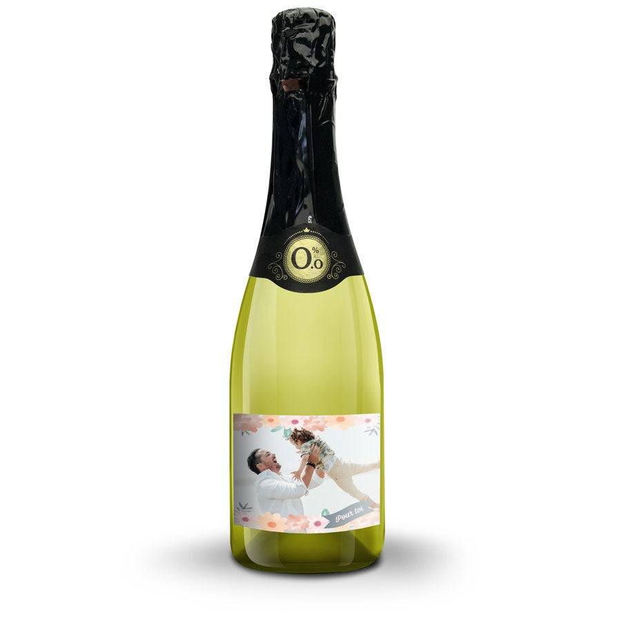 YourSurprise Bouteille de vin blanc sans alcool Vintense avec étiquette personnalisée