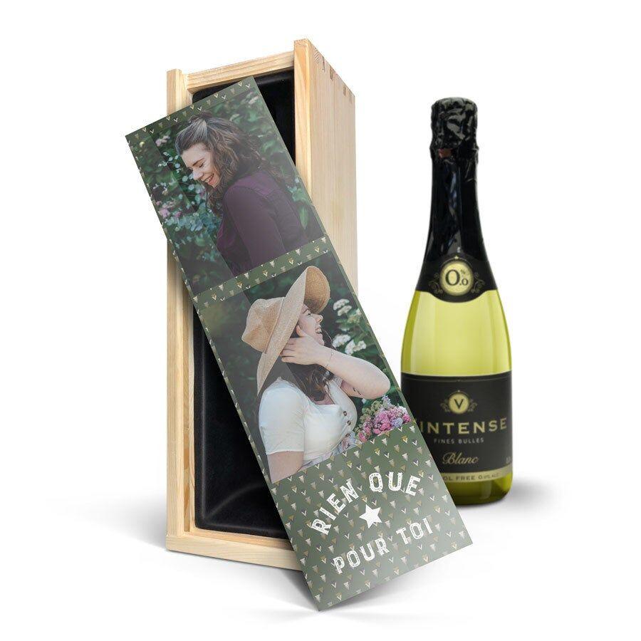 YourSurprise Coffret à vin personnalisé avec photo - Vin blanc sans alcool Vintense