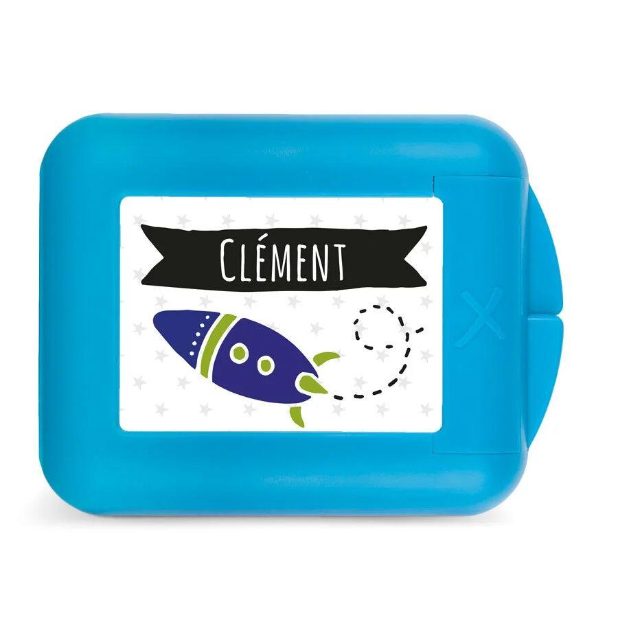 YourSurprise Boîte à goûter enfant - Fruits à croquer - Bleu