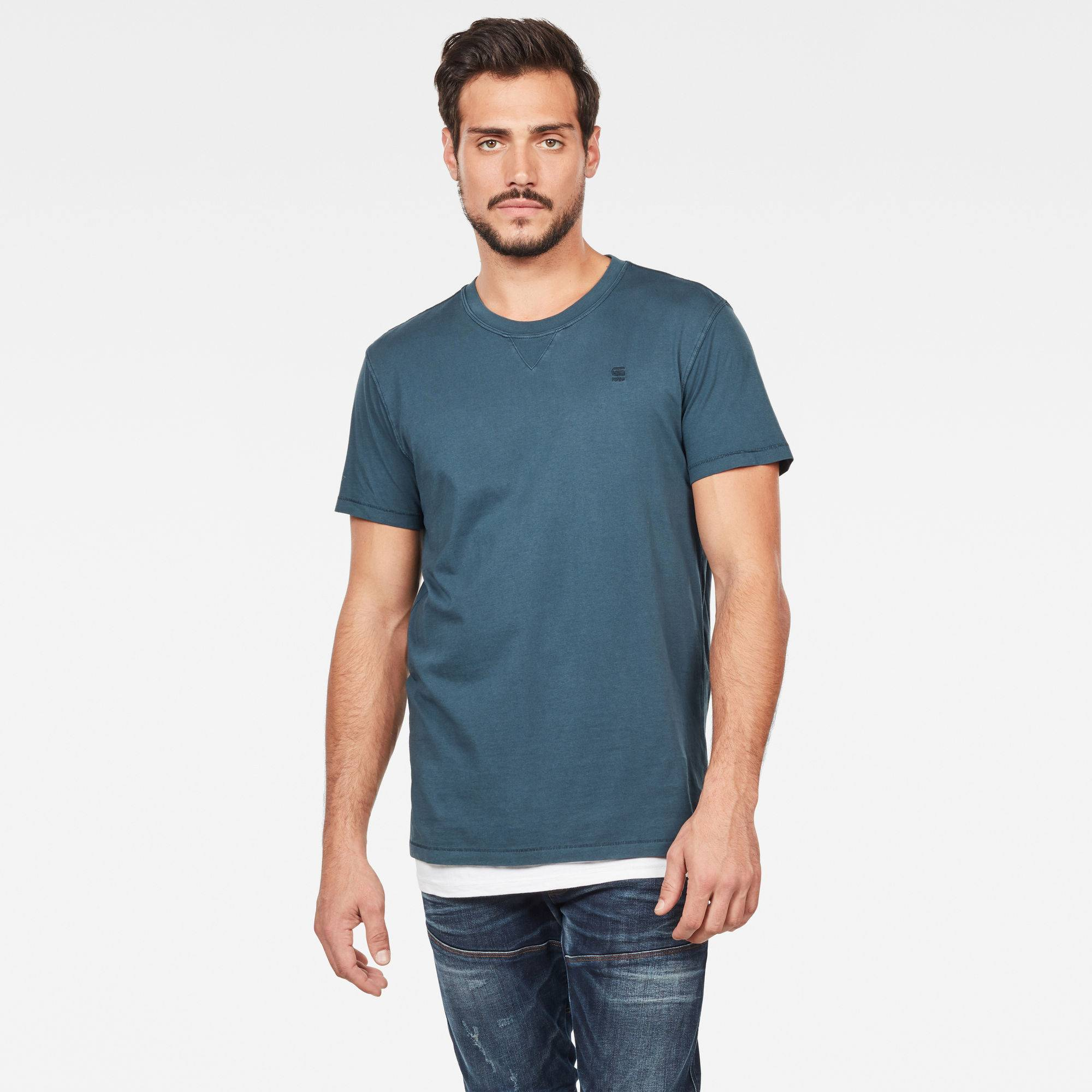 G-star RAW Hommes T-shirt Earth Bleu moyen