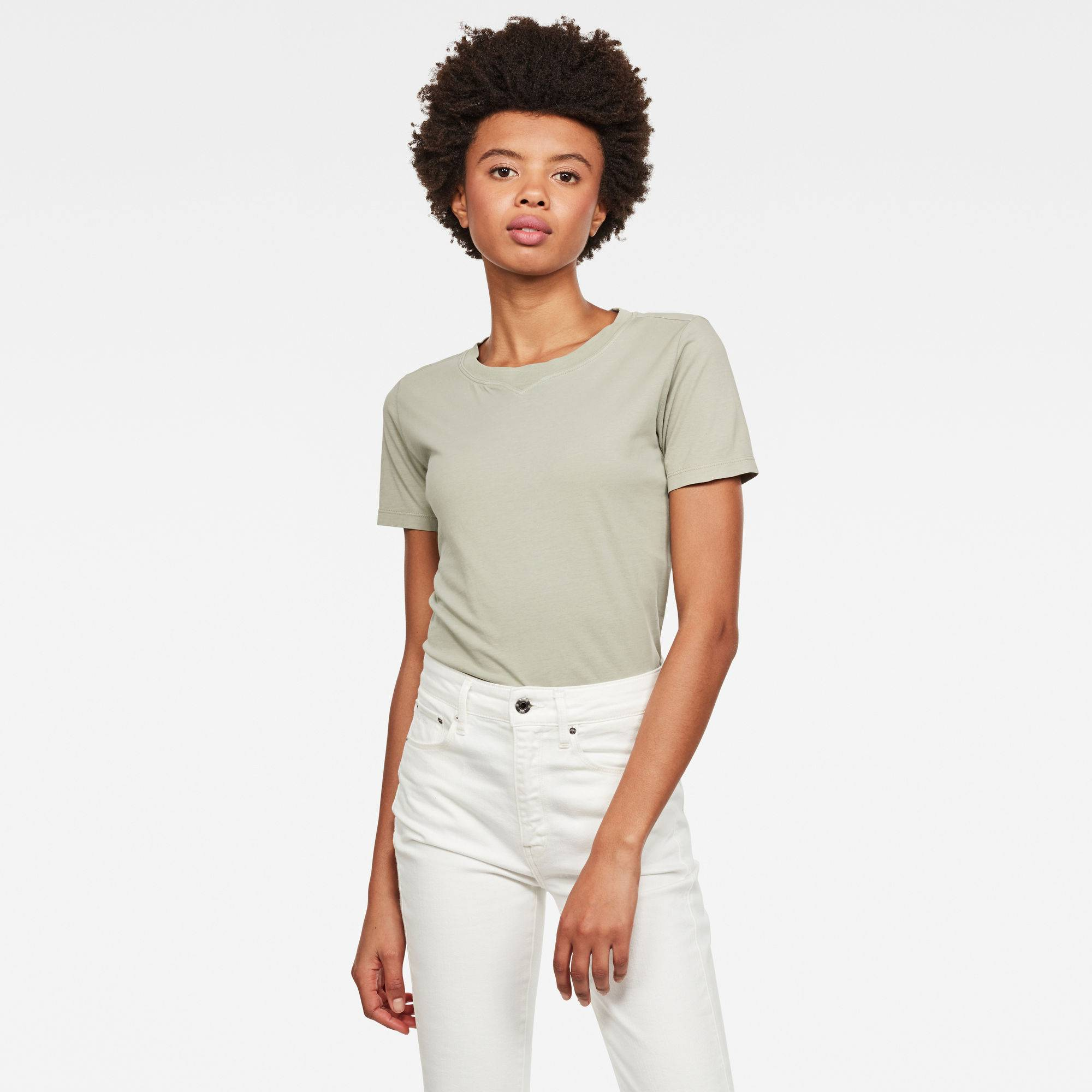 G-star RAW Femmes Haut Mysid Recycle Dye Optic Slim Vert